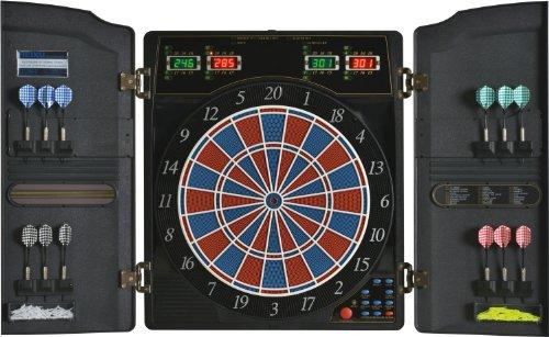 Elektronische Dartscheibe Dartona CB40 Cabinett - Turnierscheibe mit 27 Spielen und über 150 Varianten thumbnail
