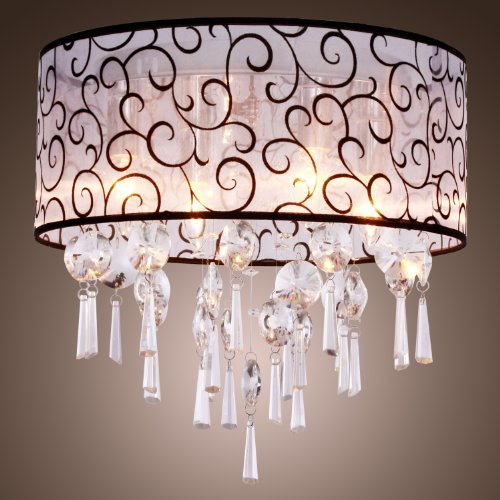 Crystal Ceiling Lamp Modern Home Ceiling Light fixture Flush Mount for Bedroom Living room max 25W 5 Lights