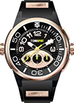 Technosport Stainless Steel Chronograph TS390-4 Black Silicone Watch