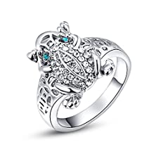 buy Magicgo Luxurious Decorations Alloy Pendants Platinum Frog With Genuine Austrian Crystals Ring