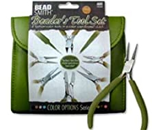 buy Beadsmith 8 Fashion- Olive Color Tool Set For Making Jewelry With Coordinated Clutch Carry Case