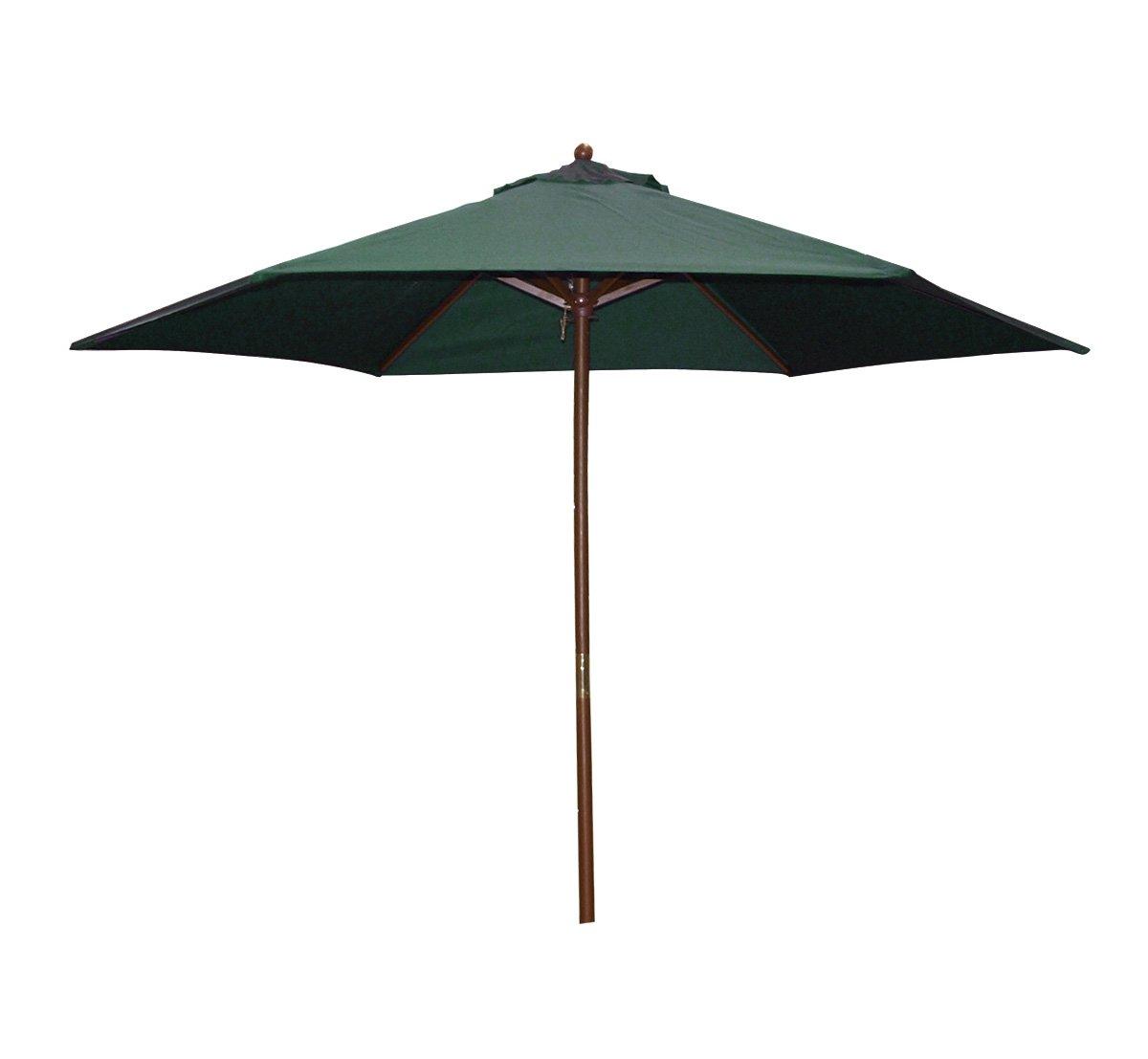 HOFFMANN, Marktschirm PRIMAVERA 270cm, Hartholzgestell teakfarben, Bezug dunkelgrün, mit Seilzug online kaufen