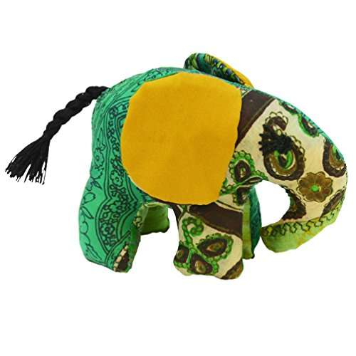 Green Small Silk Elephant