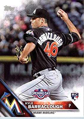 2016 Topps Opening Day #OD-151 Kyle Barraclough Miami Marlins Baseball Rookie Card