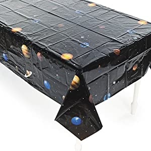 Plastic Outer Space Table Cover