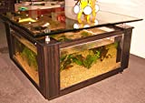 68 Gallon Square Coffee Table Aquarium, Fish Ready with Light and Filter