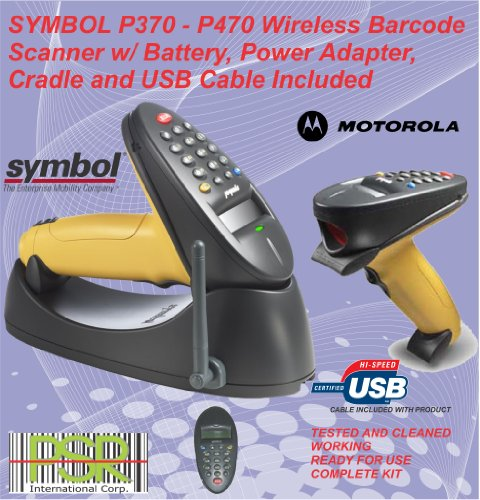 Symbol P370 P470 17 Keys Wireless Industrial Barcode Scanner Kit Usb Version. front-59689