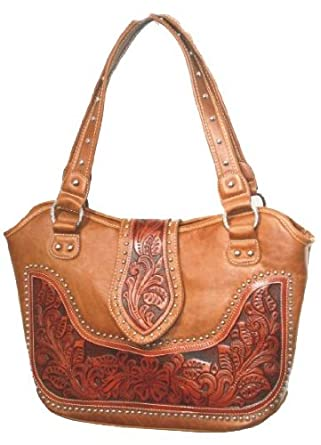 Montana West Genuine Leather Womens Western Fashion Handbag Purse