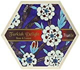 Truede Hexagonal Wooden Box with Rose and Lemon Turkish...