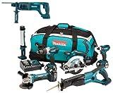 Makita 18V LXT Li Ion DK18027 6 Piece Kit And BHR241 BHR241Z BHR241Rfe Sds Hammer Drill