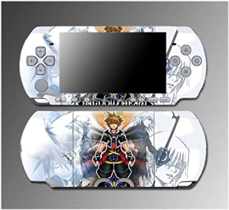 Kingdom Hearts Sora Kairi Riku Girls RPG Game Vinyl Decal Sticker Cover Skin Protector #7 for Sony PSP Slim 3000 3001 3002 3003 3004 Playstation Portable