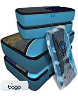 Packing Cubes 4pcs Value Set for Travel - Plus 6pcs Luggage Organiser Zip Bags