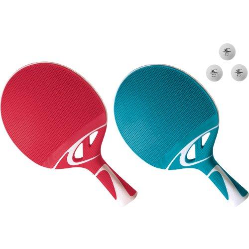 Cornilleau Tacteo Duo Pack, 2 Outdoorschläger inkl. 3 Bälle