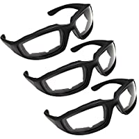 3 Pair Motorcycle Riding Glasses for Half Helmet 3 Pairs Clear Glasses from grinderPUNCH