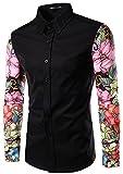 What Lees Mens Fashion Luxury Casual Slim Fit Stylish Long Sleeve Dress...