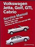 Volkswagen Jetta, Golf, Gti, Cabrio Service Manual: Including Jetta Iii, Golf Iii, Vr6, and Tdi 1993, 1994, 1995, 1996, 1997, 1998, and Early 1999