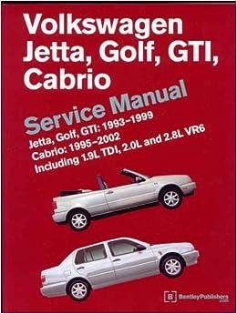 Volkswagen Jetta, Golf, GTI, Cabrio Service Manual: Jetta