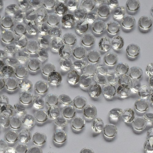 3000pcs Size 4.5mm Olor Clear Diamond Table Confetti for Wedding Party Decoration