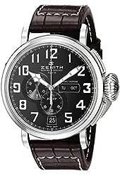 Zenith Men's 0324304054.21C Pilot Analog Display Swiss Automatic Black Watch