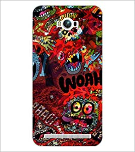 PrintDhaba Graffiti D-3844 Back Case Cover for ASUS ZENFONE MAX ZC550KL (Multi-Coloured)