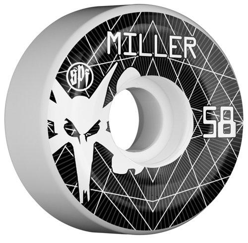 Bones Wheels Miller Vortex Wheels (58mm, White)