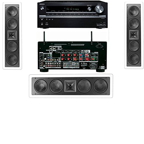Klipsch Kl-6504-Thx In-Wall Lcr Speaker(3-Each) Onkyo Tx-Nr838 7.2 Channel Network- White