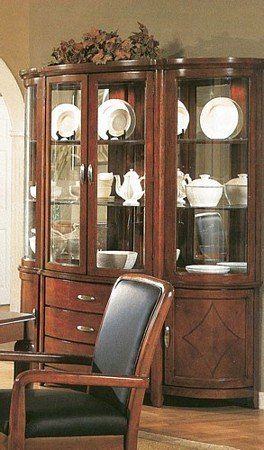 Buy Low Price Coaster Park Avenue Contemporary Style Solid Wood China Cabinet Buffet and Hutch (VF_100094)