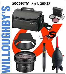 Sony SAL20F28 SAL 20mm f2.8 Lens + Sony Hood + Sony Bag + Lens Pen Cleaning System + Filters