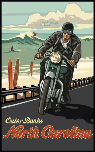 northwest-art-mall-outer-banks-motorcycle-north-carolina-wall-art-by-paul-a-lanquist-11-by-17-inch