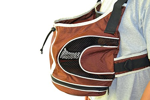Soft Pet Carrier Backpack or Front Carrier for Small Dogs and Cats Up to 15lbs - Soft Bed Cushion, Breathable Mesh, Collar Leash Restraint & Pockets for Treats