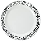 Lace Collection White/silver 9in Plate 10ct