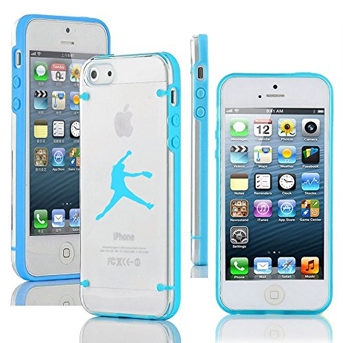 Apple iPhone 5c Ultra Thin Transparent Clear Hard TPU Case Cover Female Softball Pitcher (Light Blue) (Iphone 5c Case Softball Pitcher compare prices)
