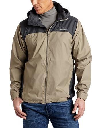 Columbia Men's Big Glennaker Lake Packable Rain Jacket, Tusk/Grill, 1X