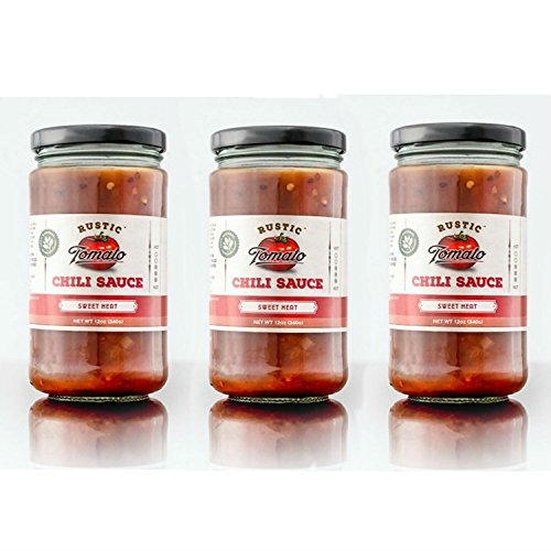 [Rustic Tomato Homemade 100% Natural Chili Sauce - 12 oz (Sweet Heat, 3-pack)] (Kikkoman Sauce Costume)