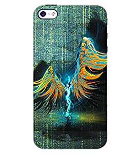 PrintDhaba FEATHER GIRL D-7018 Back Case Cover for APPLE IPHONE 4S (Multi-Coloured)