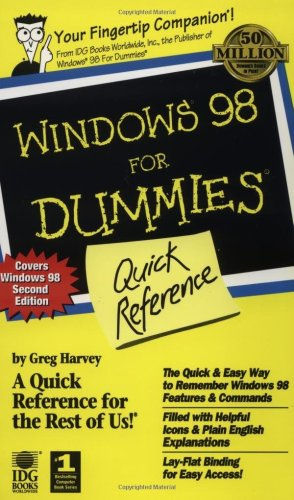 Windows 98 for Dummies Quick Reference
