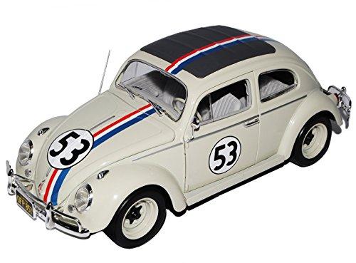 VW-Volkswagen-Kfer-Herbie-Nr-53-The-Love-Bug-1962-118-Mattel-Hot-Wheels-Modell-Auto-mit-individiuellem-Wunschkennzeichen