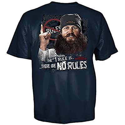 TeeShirtPalace Duck Dynasty Jase No Rules T-Shirt Harbor Blue Large