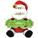 """Have Yourself A Merry Little Christmas"" Santa Greeting 11"" Animated Plush"