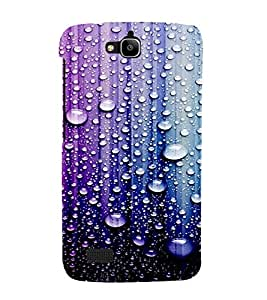 PrintVisa Water Drops Pattern 3D Hard Polycarbonate Designer Back Case Cover for Huawei Honor Holly