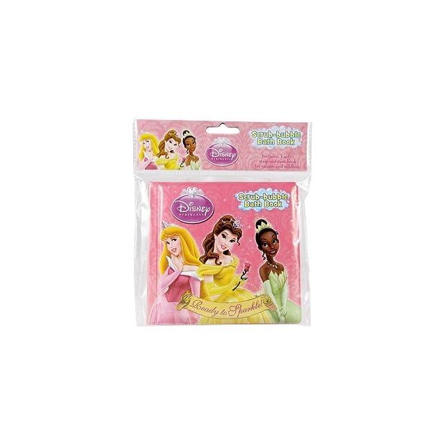 Disney Princess Scrub Bubble Bath Books, Ready to Sparkle
