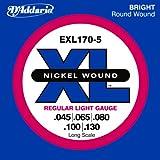 D'Addario EXL170-5 Saitensatz für 5-Saiter E-Bass 0,11 cm – 0,33 cm (.045 – .130 Zoll)