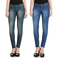 FlyJohn Women's Denims Lycra Jeans