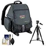 Tamrac 5242 Adventure 2 Photo Digital SLR Camera Backpack Case (Black) with Tripod + Accessory Kit for Canon, Nikon, Olympus, Panasonic, Fuji & Sony Alpha Cameras