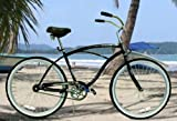 "New Black Micargi 26"" Mens Bike Beach Cruiser Bicycle Pantera"