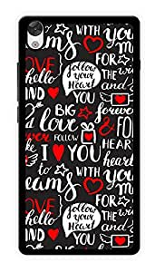 """Humor Gang Love Lover Doodle Printed Designer Mobile Back Cover For """"OnePlus X"""" (2D, Glossy, Premium Quality Snap On Case)"""