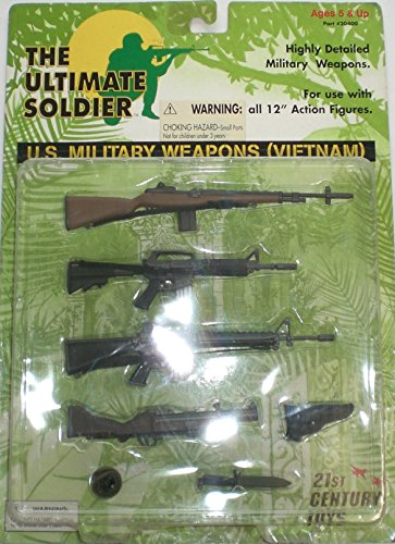 """Ultimate Soldier Us Military Weapons Vietnam Set For 12"""" Action Figures"""