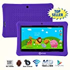 Contixo 7 Inch Quad Core Android 4.4 Kids Tablet, HD Display 1024x600, 1GB RAM, 8GB Storage, Dual Cameras, Bluetooth, Wi-Fi, Kids Place App & Google Play Store Pre-installed, 2015 July Edition, Kid-Proof Case (Purple)