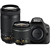 Nikon D3300 24.2MP Digital SLR (Black) + AF-P DX NIKKOR 18-55mm f/3.5-5.6G VR Lens + AF-P DX NIKKOR 70-300mm f/4.5-6.3G ED VR Lens + Memory Card + Camera Bag