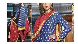 Elegant Attyres Women's Cotton Unstitched Dress Material (Elegant Attyres_4_Green_Free Size)